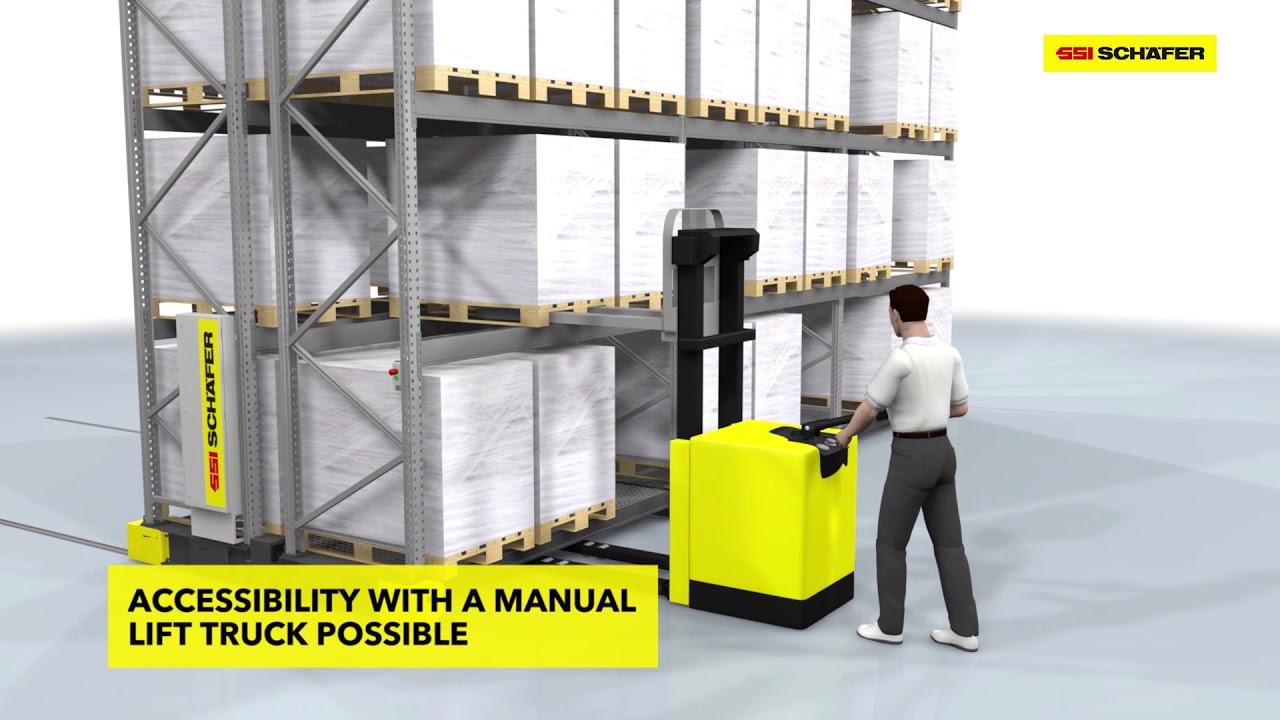 Mobile pallet racks: Flexible racking system for large and heavy goods | SSI SCHAEFER