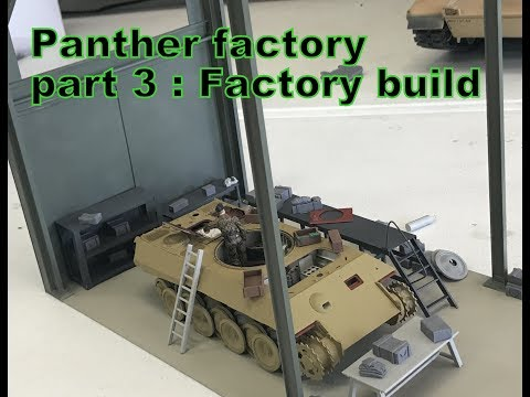 Building the Takom Panther Repair /Factory Diorama  pt 3 Update  factory construction begins