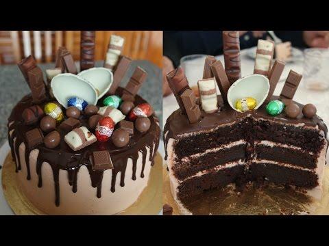 AMAZING CHOCOLATE CAKE (WITH KINDER, MALTESERS, KIT KAT 🍫) RECIPE | EM'S BAKING