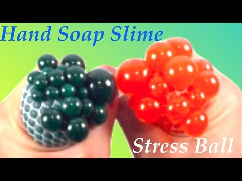 DIY Stress Ball With Hand Soap Slime!! How To Make Slime Without Glue ,Borax,or Liquid Starch