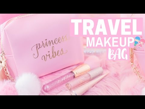 WHATS IN MY TRAVEL MAKEUP BAG?👛💕 -SLMissGlam