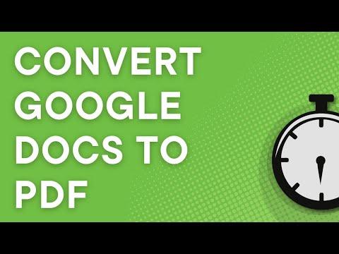 Convert Google Docs to PDF Tutorial (NO YOUTUBE ADS)