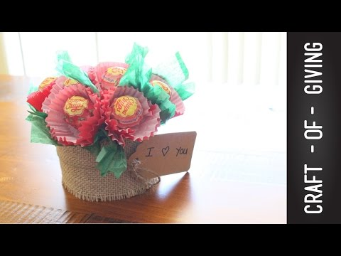 Super Easy and Quick DIY Lollipop flower Pot  | Craft of Giving
