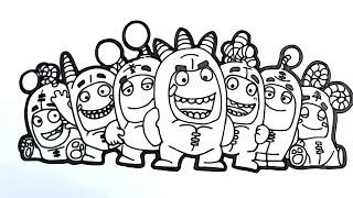 Oddbods Coloring Book Videos - 9tube.tv