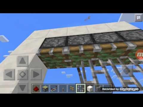 Minecraft PE How to make an piston iron gate