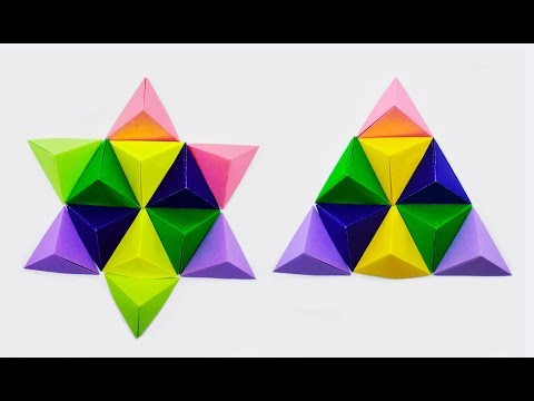 How to make a paper Wall Art with Pyramid?