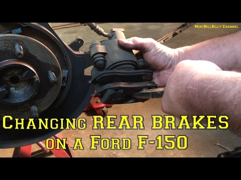 How To Change the REAR BRAKES on a Ford F-150 - Rear Brake Job