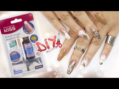 DIY KISS Acrylic Nail Kit - COFFIN NAILS STEP BY STEP