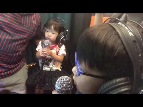 Mini karaoke booth / children singing nursery rhymes