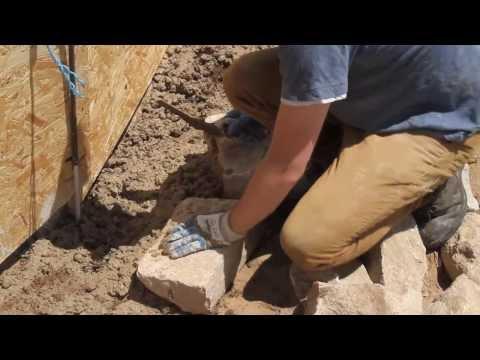 The Stone Man - Building a stone yurt base