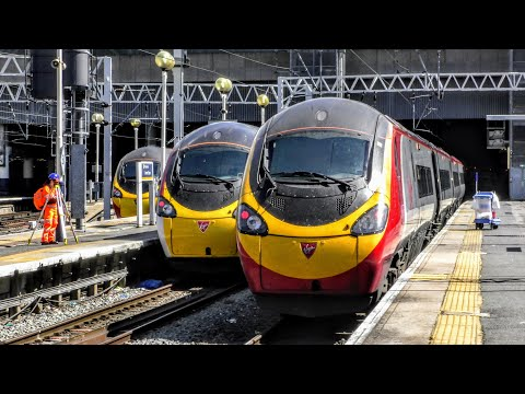Trains at London Euston   09/05/2018 - 4K HD
