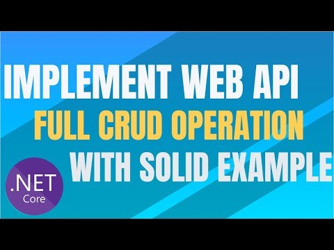 CRUD operation using Web API (Http Call) in ASP.Net Core with Example