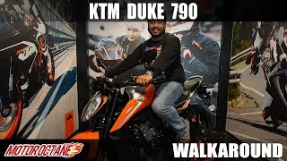 KTM Duke 790 Walkaround | Hindi | MotorOctane