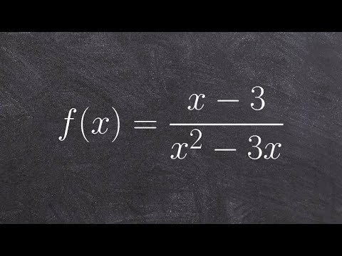 Pre-Calculus - Find all the asymptotes and intercepts of a rational function, f(x)=(x-3)/(x^2 -3x)