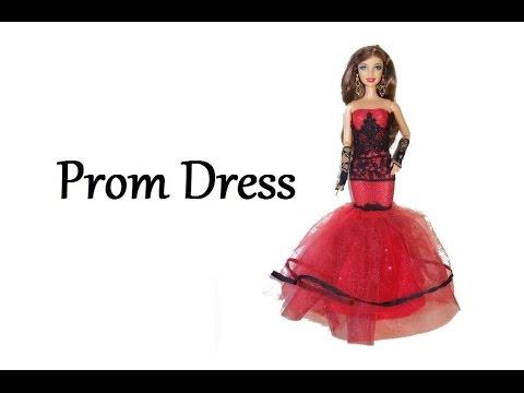 How to make a Prom Dress for Dolls Tutorial DIY (Mermaid dress)