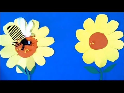 Pollination lesson with stop motion science animation for kids
