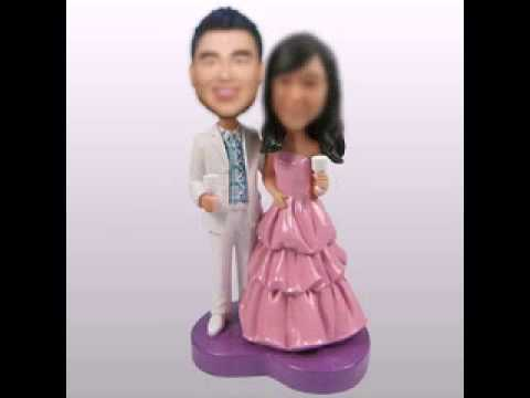 Make your own bobblehead in bobble365.com!Associated with it - custom wedding cake toppers