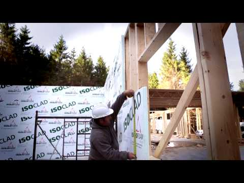 ISOCLAD - Exterior wall insulation, on site installation