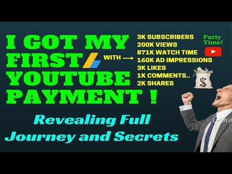 How to get first payment from youtube Revealing All secrets 1000 views=How much?
