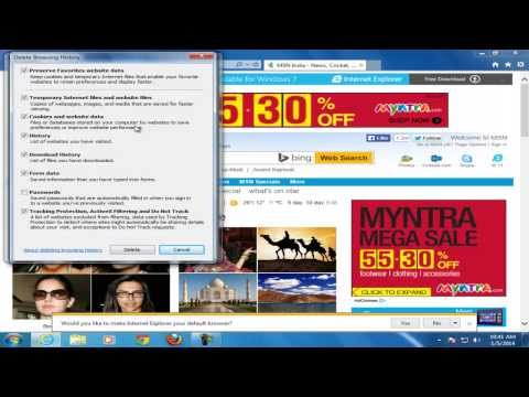 How to remove cookies from Internet explorer