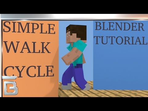 Blender tutorial: how to create a simple minecraft character walk cycle animation