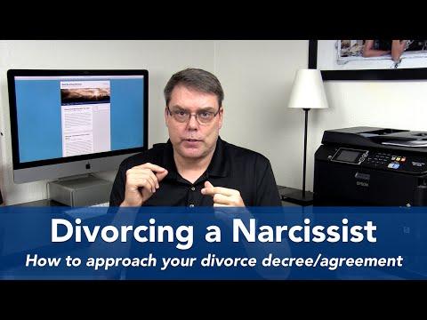 Divorce Decree with a Narcissistic
