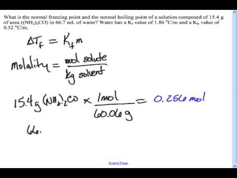 Boiling point elevation and freezing point depression example problem