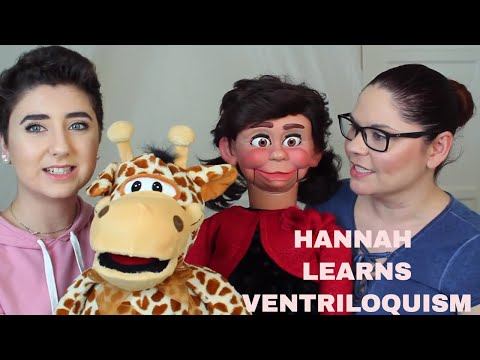 Teaching Hannah Forcier How to do Ventriloquism