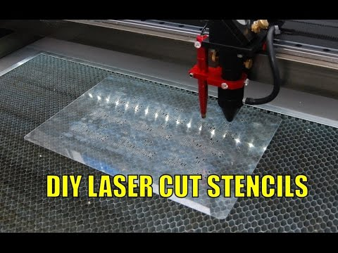 Laser cutting/etching SMT stencils from mylar (How to)