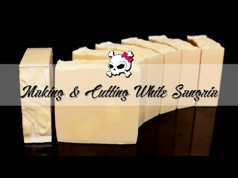 Making & Cutting White Sangria Soap