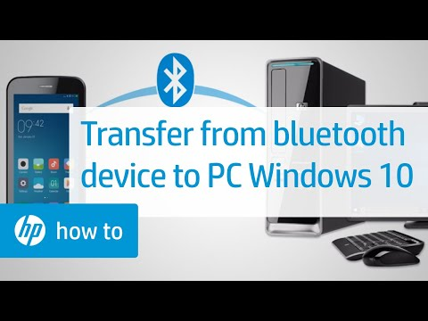 Transferring Files Between a Bluetooth Device and an HP Computer Running Windows 10