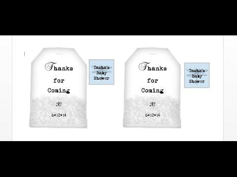 How to make custom tea gift tags