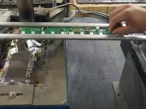 Manual wave soldering with Wenesco wave solder pot