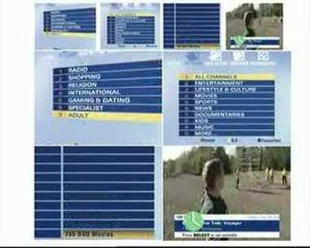 Sky TV menu