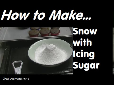 How to Make Snow with Icing Sugar | Chox Decorates Cakes #26