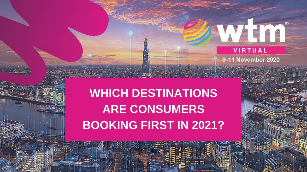 Which destinations are consumers booking first in 2021?