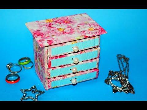 Hand Made Matchbox Craft | Easy Jewelry box making tutorial | Julia DIY
