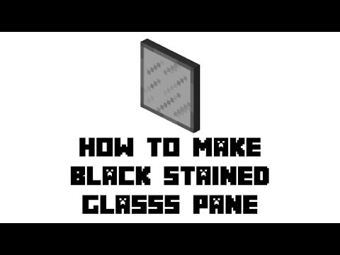 Minecraft Survival: How to Make Black Stained Glass Pane