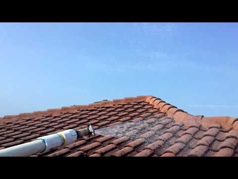 Chemically cleaning barrel tile roof in Windermere