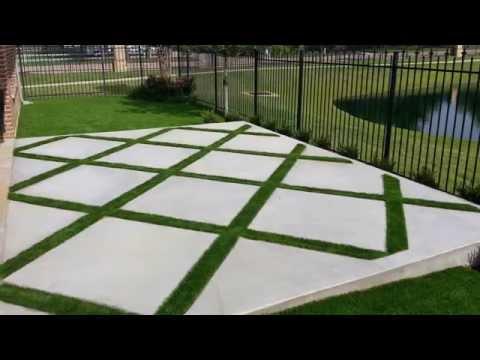 Concrete Grass Pattern - Colleyville, TX