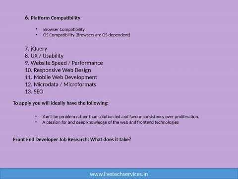 skills required to front-end developers except html, css & js