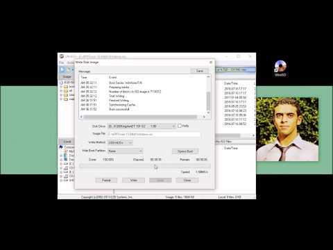How to burn Windows iso file to usb كيفية حرق نسخة ويندوز علي فلاشة مع تحميل برنامج الالترا ايزو