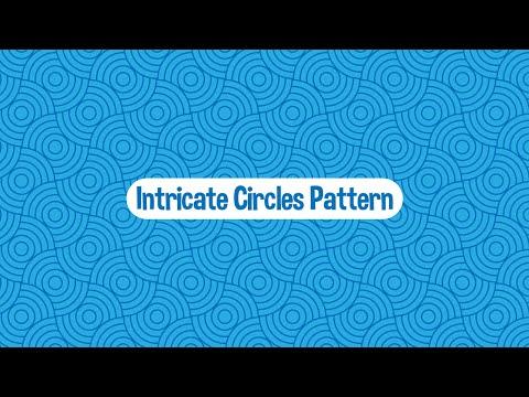 Intricate Blue Circles - Seamless Vector Pattern - Illustrator Tutorial