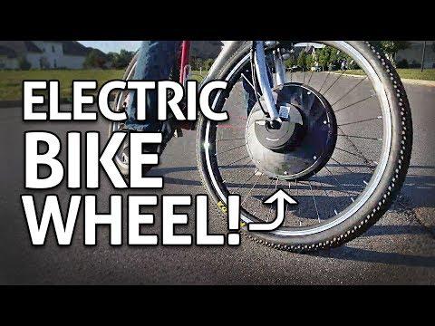 Easy + Cheap eBike!! Motorized Wheel Conversion Kit REVIEW