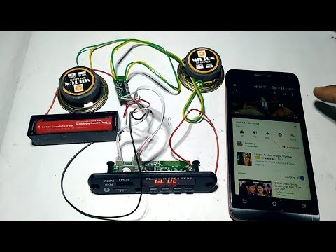 How To Make Bluetooth Speaker at Home Connection Details
