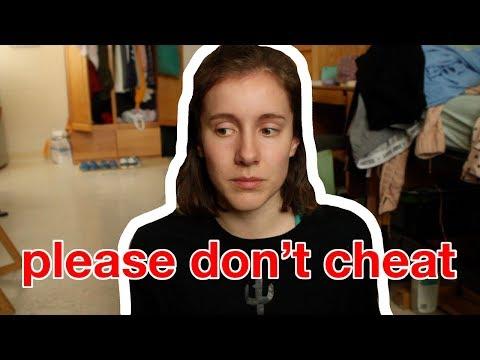 Please don't cheat in school.