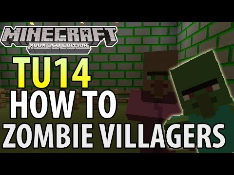 Minecraft (Xbox 360/PS3) - TU14 UPDATE! - HOW TO CURE ZOMBIE VILLAGERS - TUTORIAL