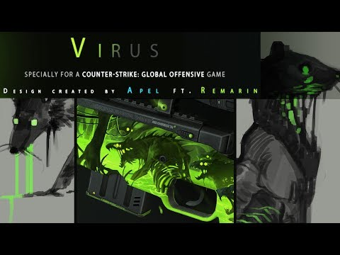 Sketching: VIRUS  ( upvote CS:GO weapon skin on steam!)