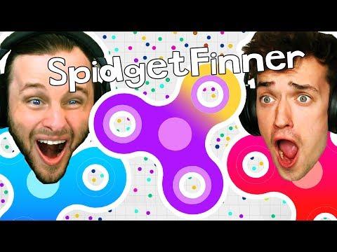 watch FIDGET SPINNER GAME?! Spinz.io CHALLENGE!!