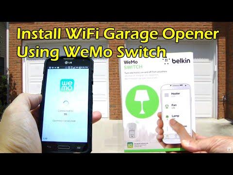 How To Install WiFi Garage Door Opener - Belkin WeMo Switch